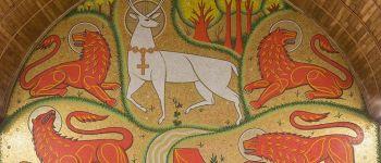 Visite symbolique de l\église du Graal - Septembre Tréhorenteuc