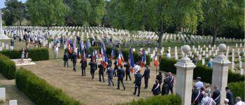 Céméonie en hommage aux soldats Acadiens / Cimetière militaire de Bény sur mer / festival \La Semaine Acadienne 2020\ Bény-sur-Mer