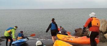 Randonnée en kayak vers la Pointe du Hoc Grandcamp-Maisy