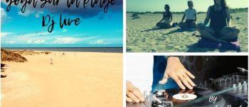 Yoga sur la plage avec un DJ en Live Merville-Franceville-Plage