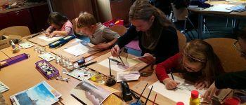 Atelier des petits : aquarelle La Hague