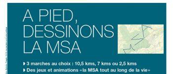 Marche en forêt « A pied, dessinons la MSA » Balleroy-sur-Drôme