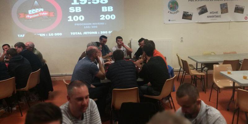 Repas suivi d'un tournoi de poker
