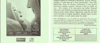 Projection du film « Gloria Mundi » réalisé par Robert Guédiguian Carolles