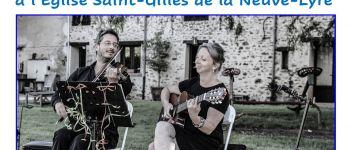 Concert jazz acoustique, guitare et violon, avec le duo Franck et Juliette La Neuve-Lyre